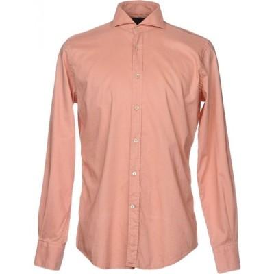 ラルディーニ LARDINI メンズ シャツ トップス Solid Color Shirt Blush