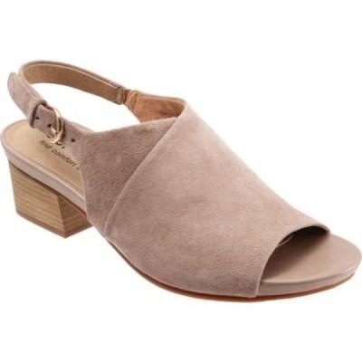 ソフトウォーク サンダル シューズ レディース Pomona Block Heel Slingback (Women's) Taupe Suede