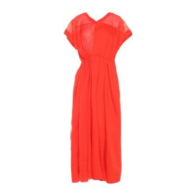 マウロ グリフォーニ MAURO GRIFONI 7分丈ワンピース・ドレス レッド 44 コットン 100% 7分丈ワンピース・ドレス