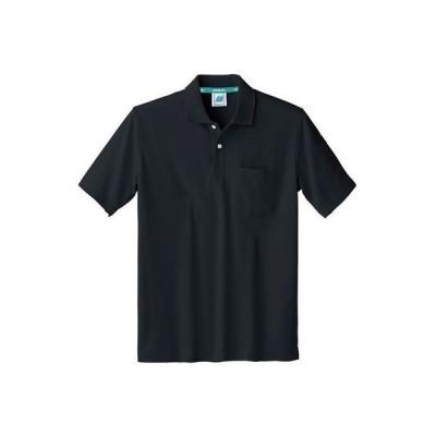 住商モンブラン ポロシャツ 兼用 半袖 黒 4L 32-5050 1枚(直送品)