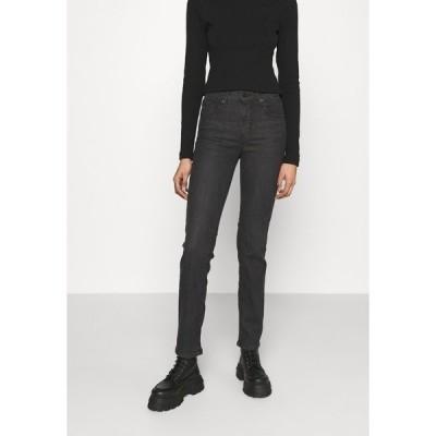 リーバイス デニムパンツ レディース ボトムス 724 HIGH RISE STRAIGHT - Straight leg jeans - black cloud