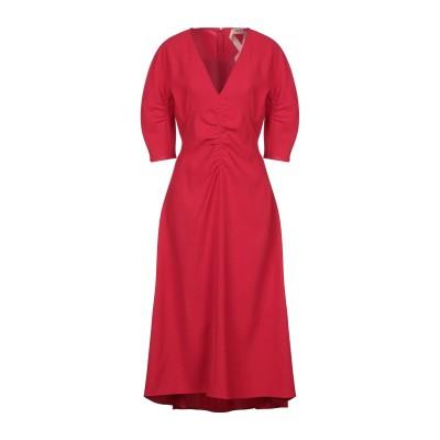ヌメロ ヴェントゥーノ N°21 ロングワンピース&ドレス レッド 42 ポリエステル 100% ロングワンピース&ドレス