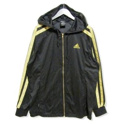美品 adidas アディダス ウォームアップ フーデッドジャケット O36024 ジャージ トラックジャケット ブラック 黒 M メンズ  中古 27006953