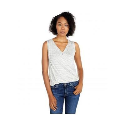 Bobeau レディース 女性用 ファッション ブラウス Sleeveless Surplice Top - Heather Grey/Ivory