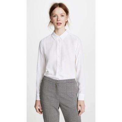 エキプモン Equipment レディース ブラウス・シャツ トップス essential blouse Bright White
