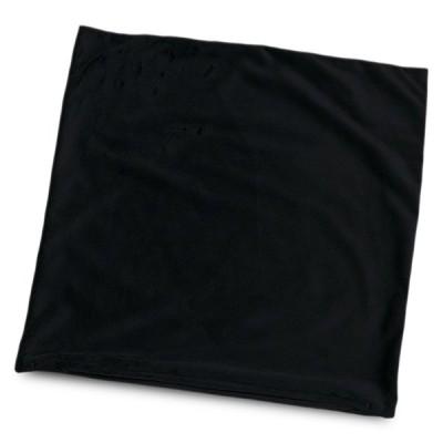 クッションカバー 約45×45cm マイクロシールボア ブラック 日本製 起毛 黒系 45角 背あて セアテ 背当て 腰当て 腰あて ランバーサポート 日本製