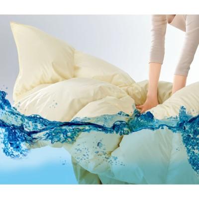 2段ベッド用 (ウォッシュニング・ハウス(R) 洗える羽毛掛け布団) ライトオレンジ