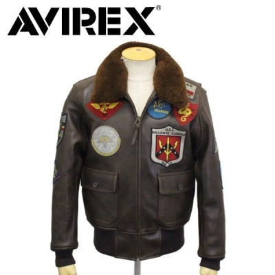 AVIREX (アヴィレックス) 6181013 G-1 TOP GUN JACKET トップガン レザージャケット 055 BROWN