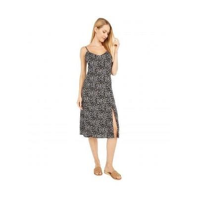 Bobeau レディース 女性用 ファッション ドレス Midi Slip Dress w/ Slit - Grey Tan Leopard