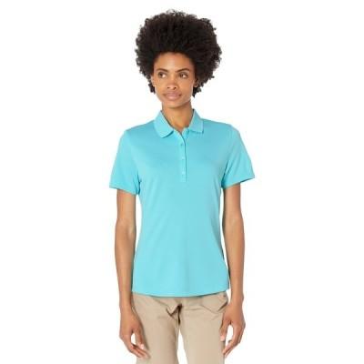 キャラウェイ シャツ トップス レディース SWING TECH Solid Knit Polo Blue Curacao