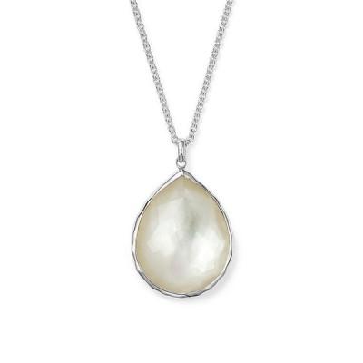イッポリスタ レディース ネックレス・チョーカー アクセサリー Sterling Silver Wonderland Large Teardrop Pendant Necklace In Mother-of-Pearl 16