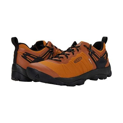 KEEN Men's Venture Low Height Waterproof Hiking Shoe, Pumpkin Spice/Black, 12 D (Medium) US【並行輸入品】