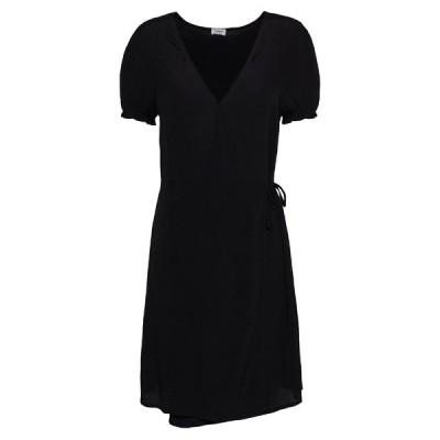 コットンオン ワンピース レディース トップス AMY WRAP MINI DRESS - Day dress - black