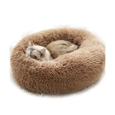 ペットベッド 猫 犬 ベッド ソファ ペットクッション 丸型 水洗い可 ペットハウス ふわふわ 柔らかい 冬 防寒 暖かい 寒さ対策 寝床 ペット用マ