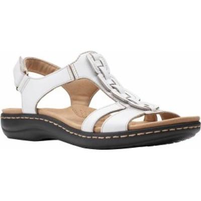 クラークス レディース サンダル シューズ Women's Clarks Laurieann Kay Strappy Slingback Sandal White Leather