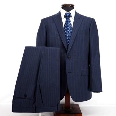 LONNER ロンナー スーツ シングル ノータック ブルーステッチ レダ生地 ウール L メンズ ファッション 服 カジュアル 日本製 春夏