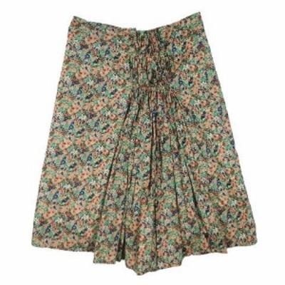 【中古】AMBALI アンバリ 小花柄 スカート ギャザー タック ひざ丈 ボトムス サイズ38 マルチカラー レディース