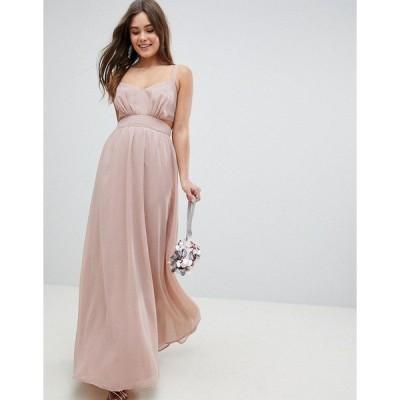 エイソス レディース ワンピース トップス ASOS Side Cut Out Maxi Dress with Cami Straps Nude