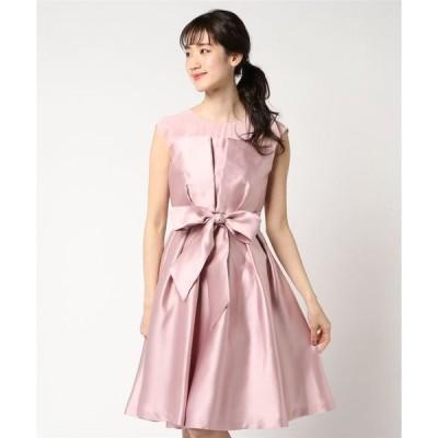 ドレス 【結婚式 ワンピース/二次会/ドレス】ブライトツイル×シフォンビスチェ風ワンピース