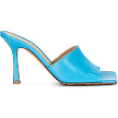 ボッテガ ヴェネタ Bottega Veneta レディース サンダル・ミュール シューズ・靴 leather mules Sky Blue