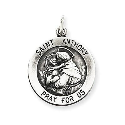 スターリング シルバー St. Anthony メダル チャーム - Measures 18mm(海外取寄せ品)