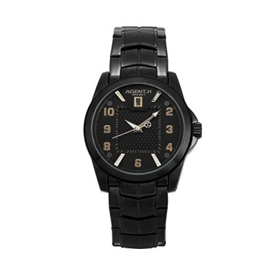 helmask Watch???ステンレススチ-ルブラックラウンドマンメンズメンズBoyスポ-ツ日付クォ-ツアナログ腕時計並行輸入品