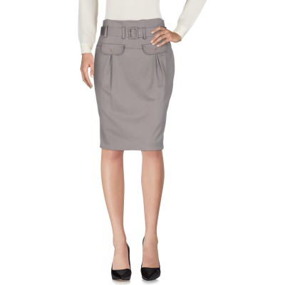 AB/SOUL ひざ丈スカート グレー 42 レーヨン 50% / アセテート 50% ひざ丈スカート