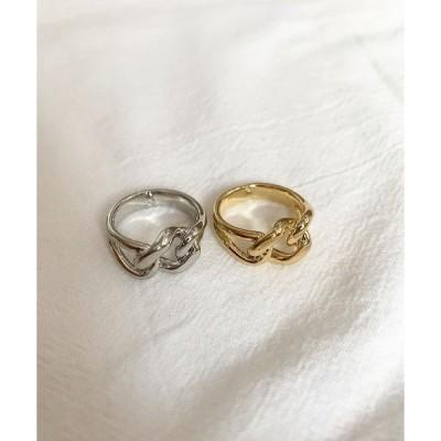 指輪 結びクロスシンプルリング