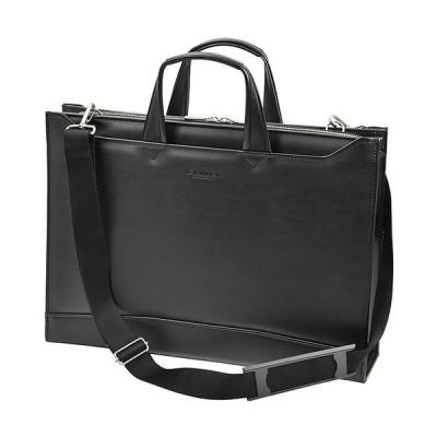 ビジネスバッグ ブリーフケース 日本製 豊岡製鞄 合皮 B4ファイル 22345-01 黒 ___