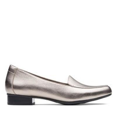 ファッション シューズ カジュアル Clarks クラークス Juliet Lora カラー:Pewter Leather お取り寄せ商品