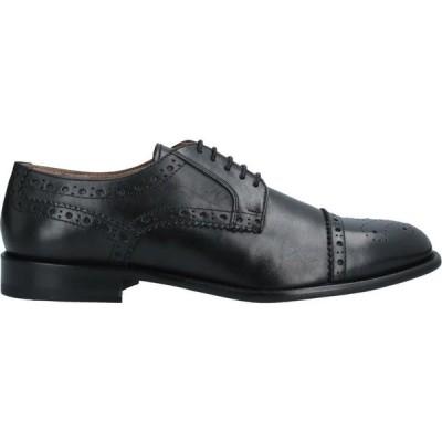 アンジェロ パロッタ ANGELO PALLOTTA メンズ 革靴・ビジネスシューズ シューズ・靴 Laced Shoes Black