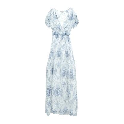 ブルーガール ブルマリン BLUGIRL BLUMARINE ロングワンピース&ドレス ホワイト 42 100% レーヨン ロングワンピース&ドレス