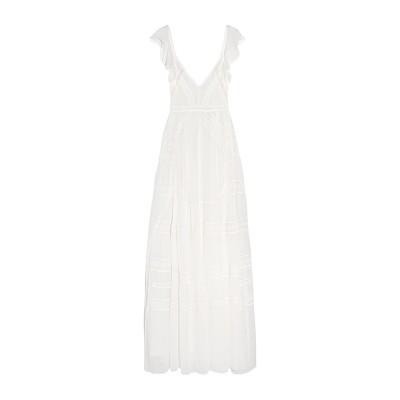 NEEDLE & THREAD ロングワンピース&ドレス アイボリー 14 シルク 100% ロングワンピース&ドレス