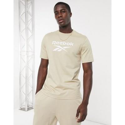 リーボック 半袖Tシャツ メンズ Reebok Classics t-shirt with vector logo in beige エイソス ASOS ベージュ