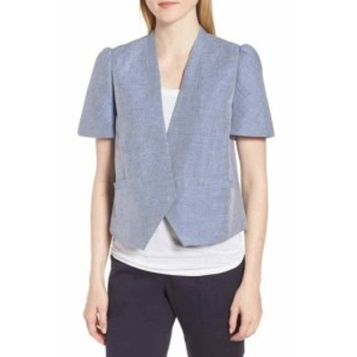 Nordstrom ノードストローム ファッション 衣類 Nordstrom Signature NEW Blue Tempest Womens Size XS Puff Sleeve Jacket