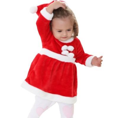 サンタ サンタクロース 衣装 お子様 クリスマス コスプレ 衣装 子供 女の子 90cm