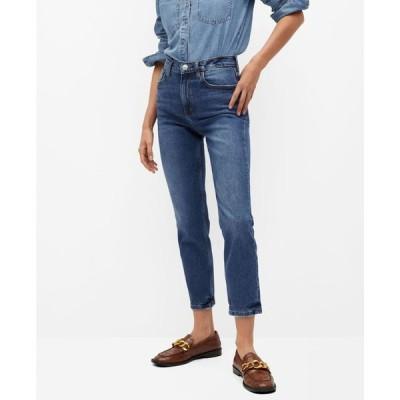 マンゴ レディース デニムパンツ ボトムス Women's Mom-Fit Jeans