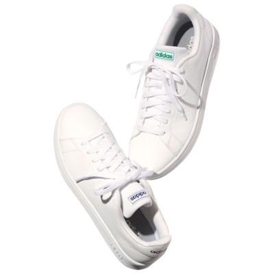 ベルーナ <adidas>アドバンコートスニーカー ホワイト/グリーン 23.0cm レディース