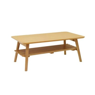 ヤマソロ 棚付きテーブル 折りたたみテーブル 折り畳みテーブル テーブル 棚付き 折り畳み式 折れ脚テーブル 8