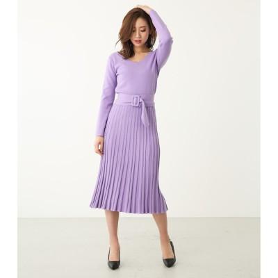 【リエンダ/rienda】 pattern stitch プリーツOP
