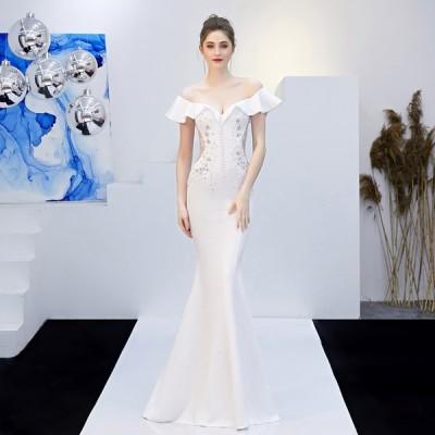 ブライズメイド ブライダル  ウエディングドレス 安い 可愛い フリル 花嫁 結婚式 披露宴 パーティードレス マーメイド