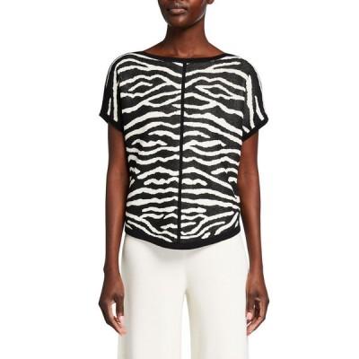 ジョアンバス レディース ニット・セーター アウター Zebra Intarsia Pullover Sweater