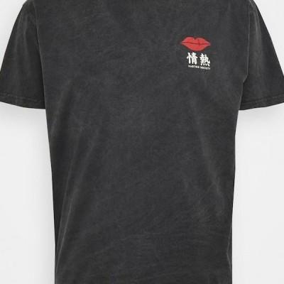 メンズ ファッション LIPS - Print T-shirt - dark grey