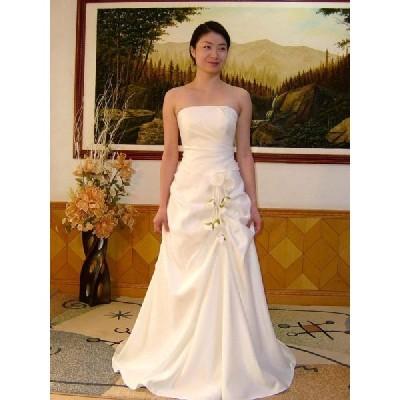 wdk091B  人気のウェディングドレスを無料サイズオーダー!  ビスチェタイプ