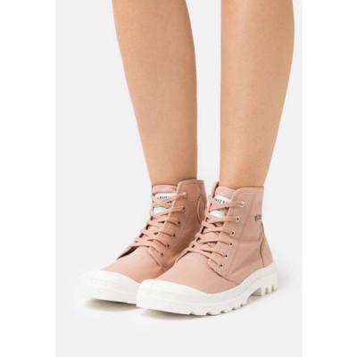 パラディウム レディース 靴 シューズ PAMPA ORGANIC II - Lace-up ankle boots - rose brick
