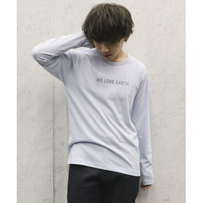COMME CA ISM/コムサイズム ロゴプリントTシャツ サックス L