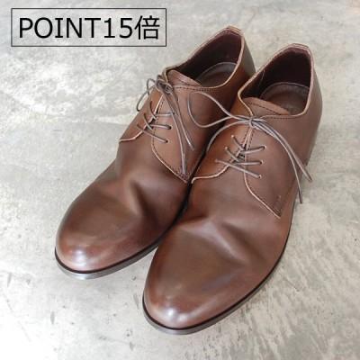【ポイント10倍】PADRONE パドローネ DERBY PLAIN TOE SHOES / JACK ディープブラウン DEEP BROWN PU7358-2001-11C 革靴 本革 日本製