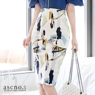 タイトスカート スカート ミディアム 柄 きれいめ 韓国 韓国ファッション 30代 40代 デート おめかし 女子会 ディナー フォーマル  S M L XL キャバ