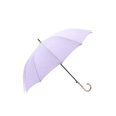 【アールエムストア】 雨晴兼用 ジャンプ長傘 シャンブレー生地 12本骨 レディース ラベンダー フリー RM STORE