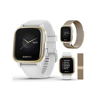 【送料無料】Garmin Venu Sq GPS Fitness Smartwatch Extra Style Band Bundle   Includes Pl
